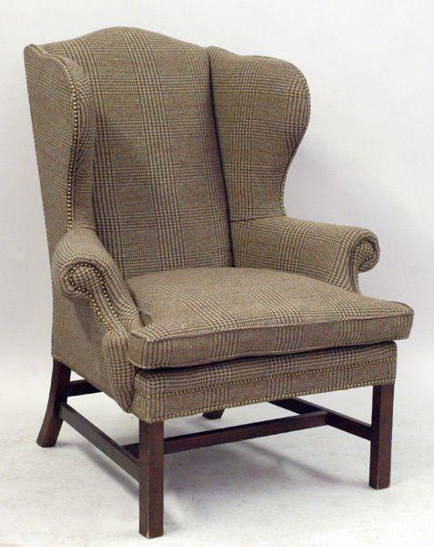 Ralph Lauren Upholstered Devonshire Wingback Basement