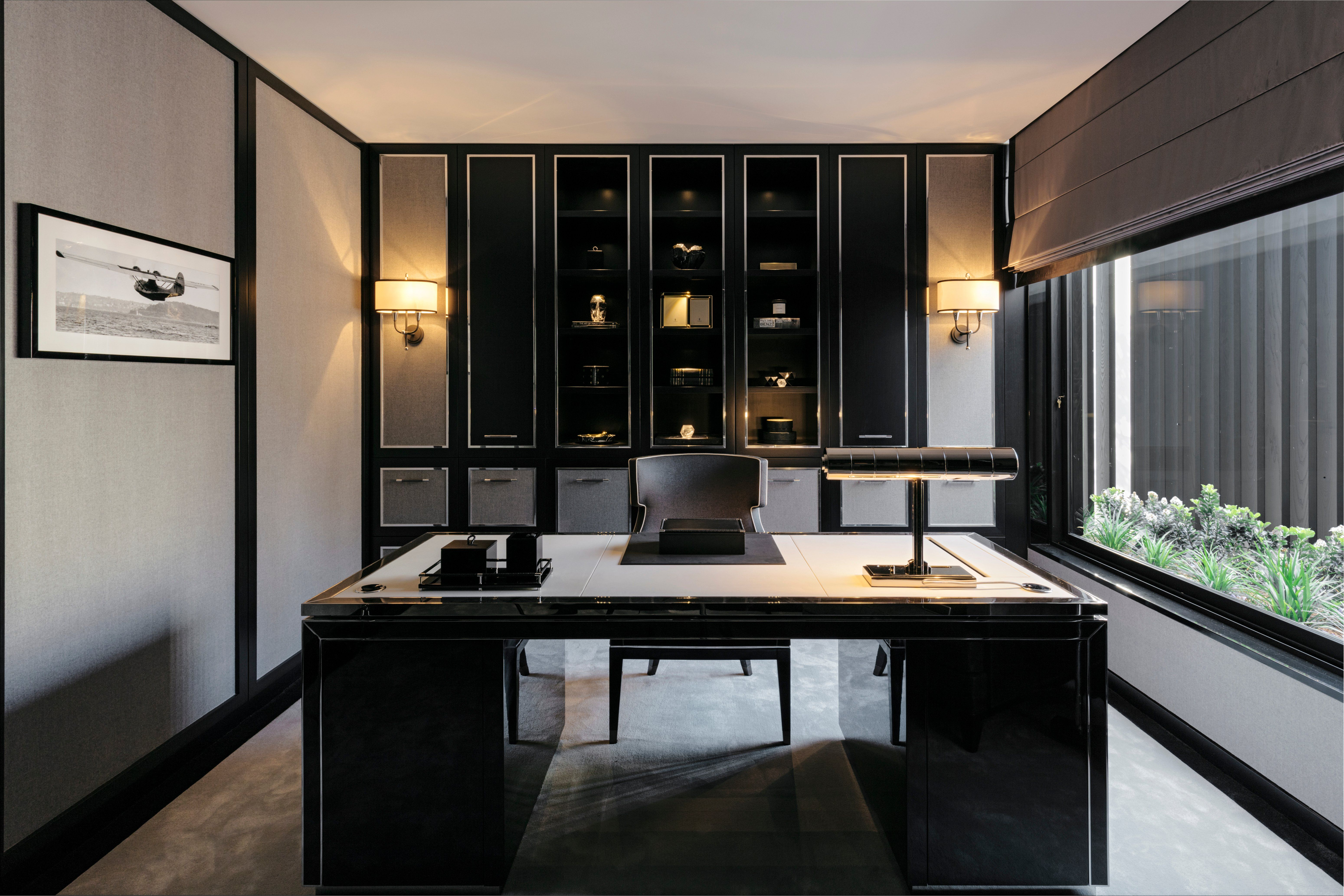 See More Of Blainey North S Volumetric Connections On 1stdibs Modern Home Office Home Office Design Monochrome Interior