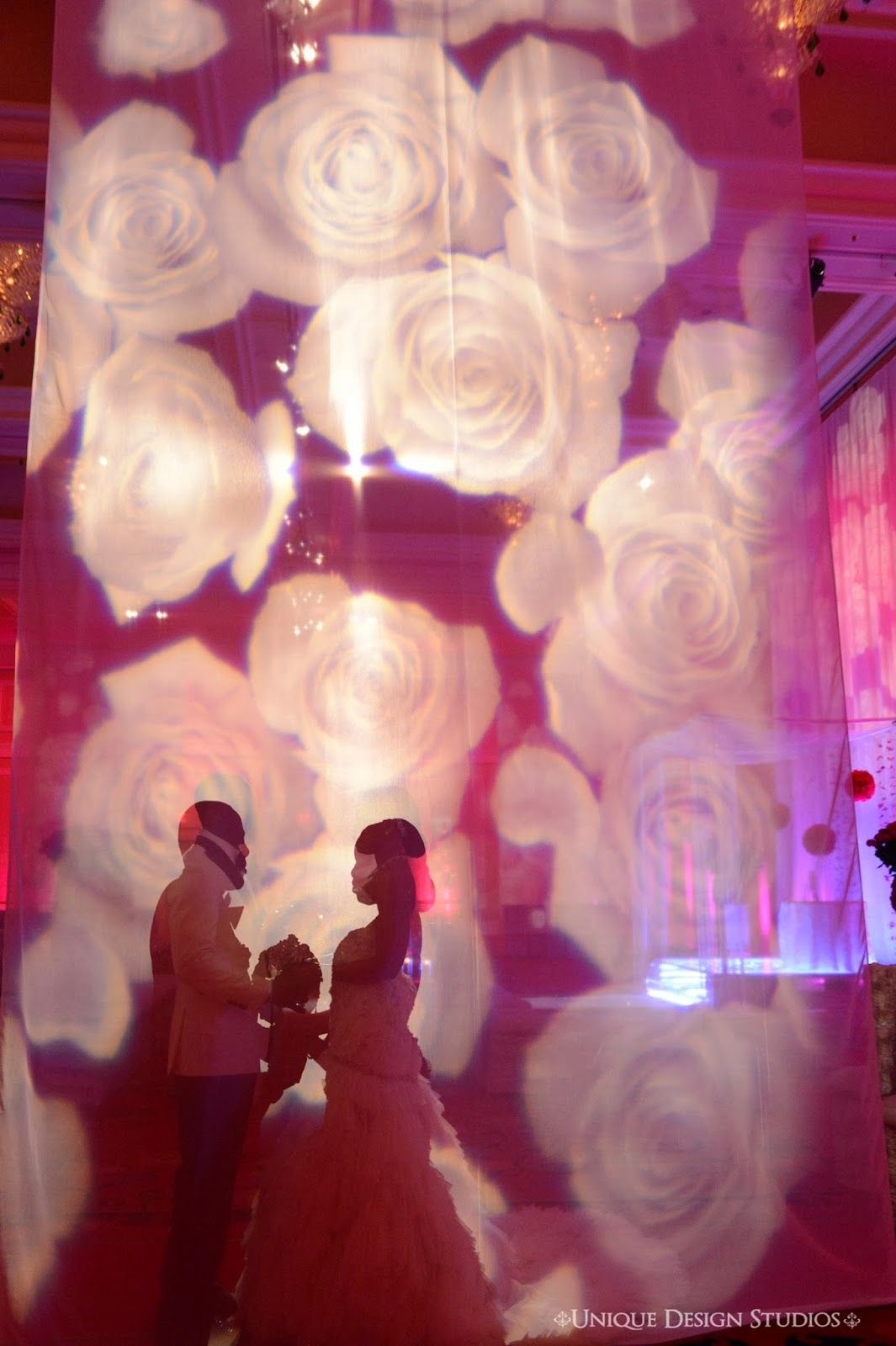 Gorgeous rose drape and backdrop for the stunning ceremony. Not your ...