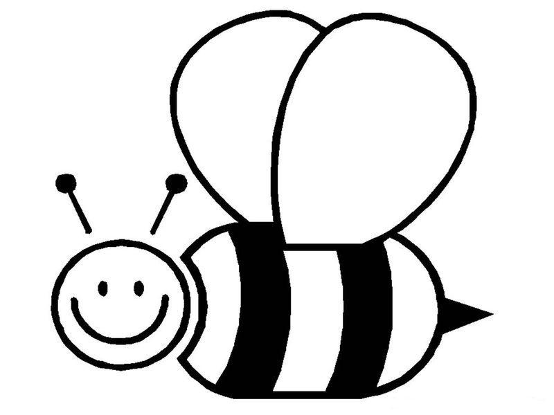 Bumble Bee Coloring Pages Bee Coloring Pages Bee Template Bee Printables