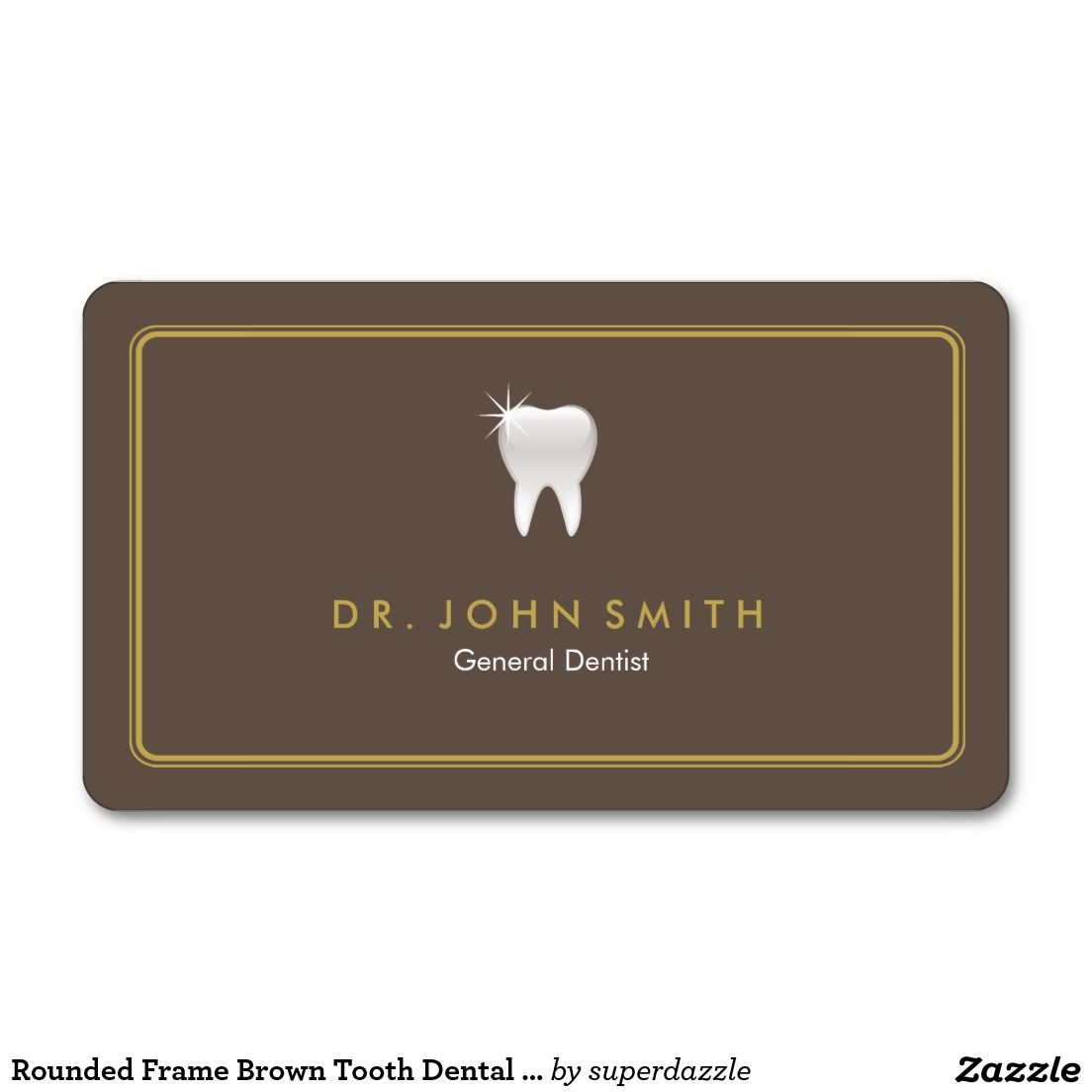 Rounded Frame Brown Tooth Dental Appointment Appointments Dental