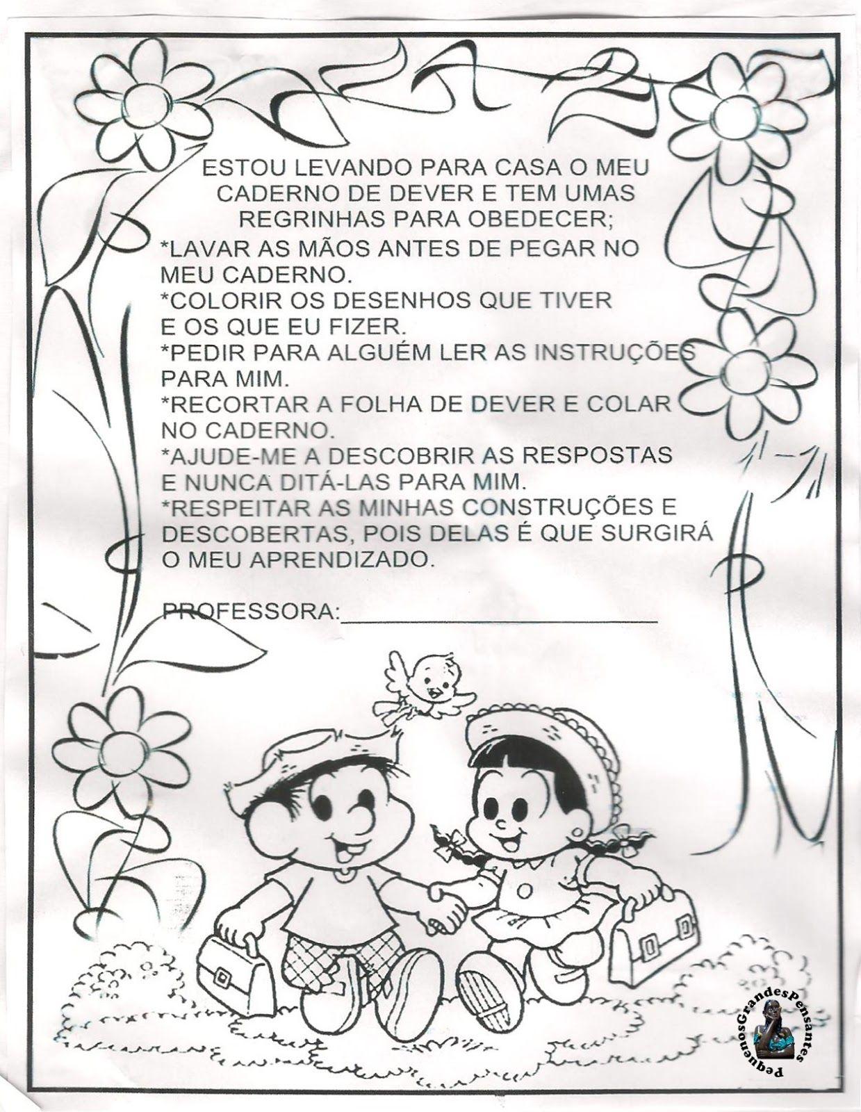 Capa Inicial Para Cadernos Da Educação Infantil Capa Para Caderno