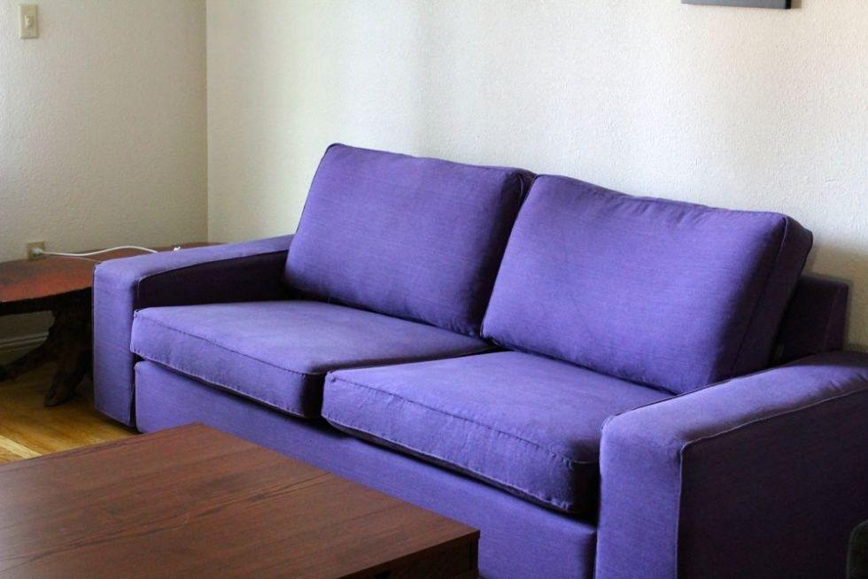Make Your Own Purple Sofa Purple Sofa Ikea Sofa Covers Sofa