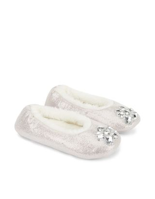 Stylish and super-cosy: these faux fur-lined shimmery ballerina ...