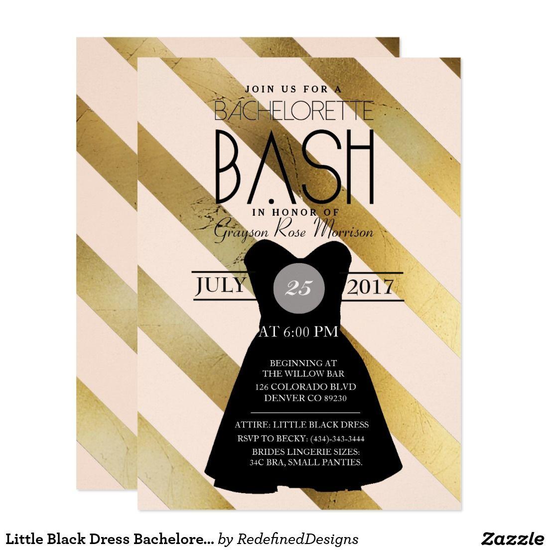 Little Black Dress Bachelorette Bash | Party Card | Bachelorette parties
