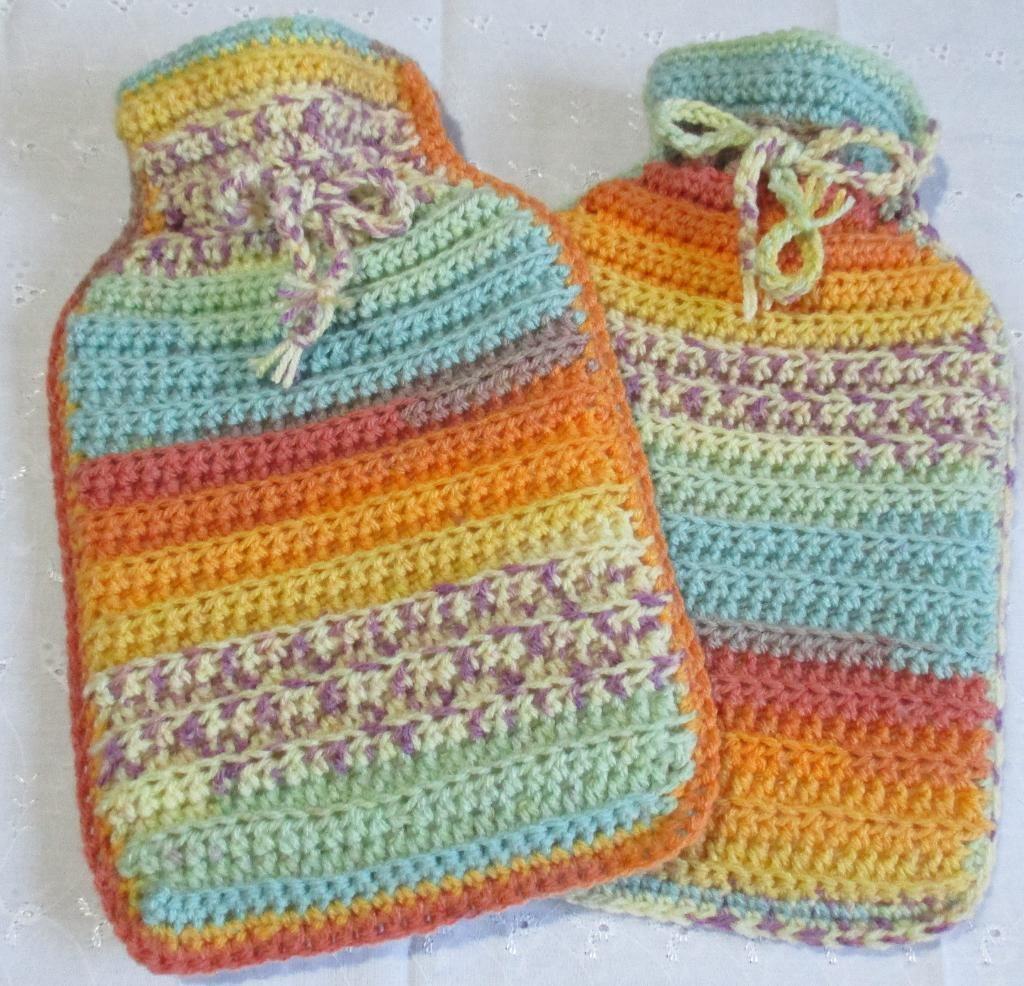 Crocheting : Quick and Easy Hot Water Bottle Cover (free pattern ...