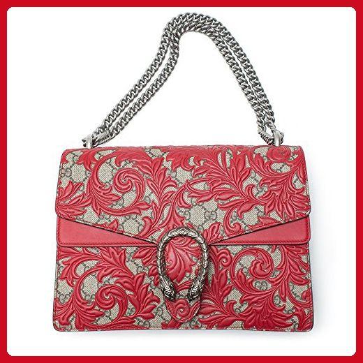 752d7367be91f8 Gucci Dionysus Red Lace Signature Arabesque Med Shoulder Bag Handbag Italy  New - Shoulder bags (*Amazon Partner-Link)