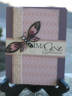 Vanessa's Card Studio: Blossom Petals Punch....Not just for flowers.   Blk on pink vellum