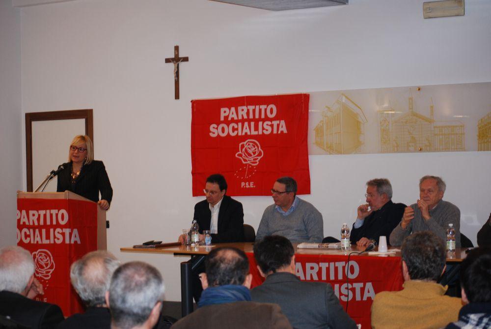 Ospite il Sindaco di Alessandria Maria Rita Rossa durante il suo intervento al Congresso del Partito Socialista di Alessandria.