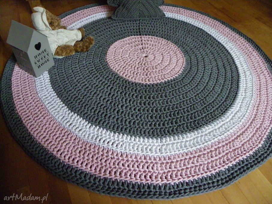 Ręcznie Robiony Okrągły Dywan Ze Sznurka Bawełnianego