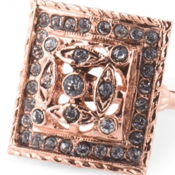 Italian Mia Fiore Rose Gold Plated Crystal Ring This one was made in