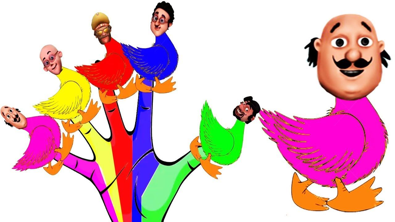 Motu Patlu John The Don Ghasitaram Chingam Duck Colors Learn Finger
