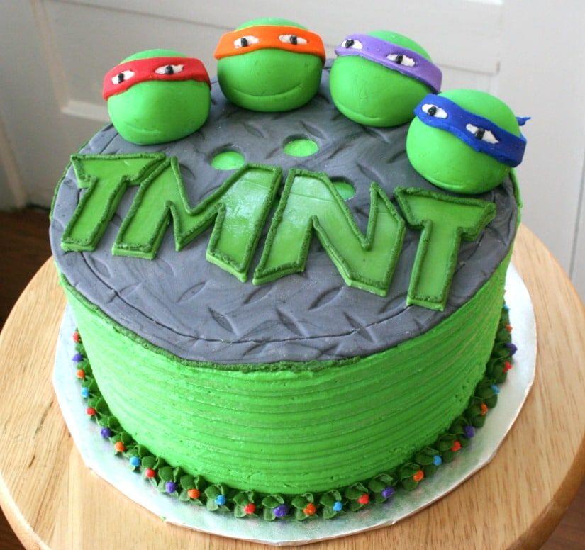 Turtle Ninja Cake Ninja Turtle Cake Turtle Birthday Ninja Turtles Birthday Party