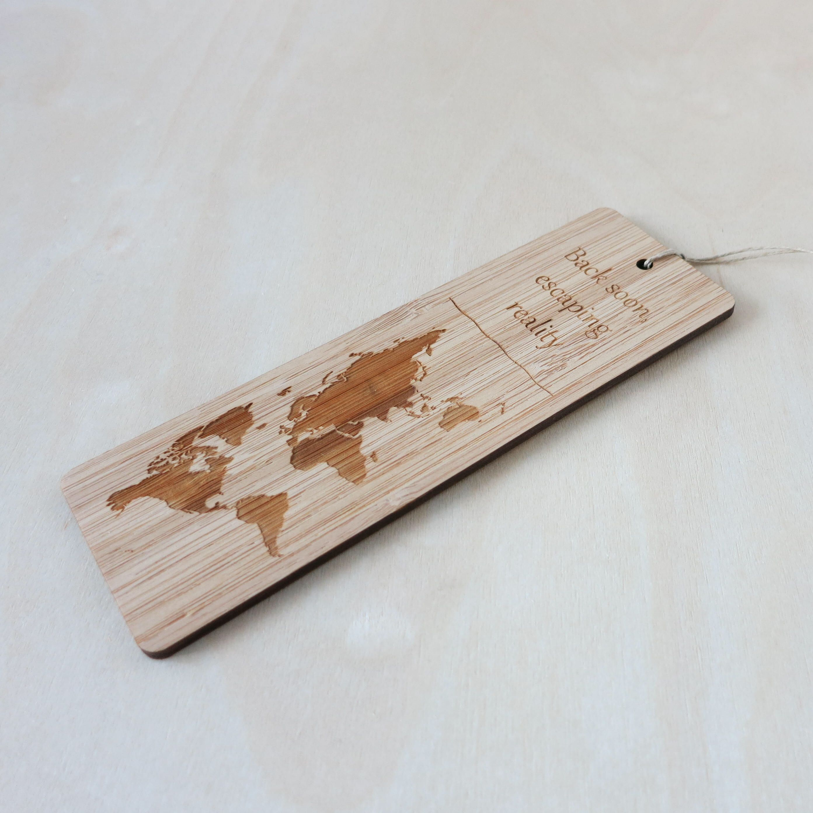 Back soon escaping reality world map bamboo bookmark eco friendly back soon escaping reality world map bamboo bookmark eco friendly bookmark laser cut laser burned map bookmark sustainable bookworm reading gumiabroncs Images