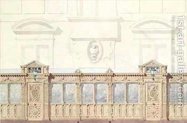 Design for the Galerie de Bois Chateau de Chantilly Felix Louis Jacques Duban | Oil Painting Reproduction | 1st-Art-Gallery.com