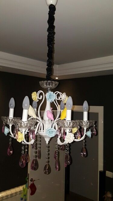 My favourite birds and flowers Chandelier :)