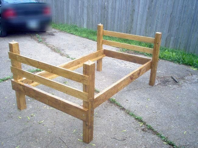Image result for twin bed frame diy Wood Workings Pinterest