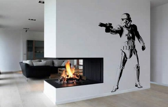 Stormtrooper Wall Art Vinyl Sticker WA033 by atLoudDesigns on Etsy