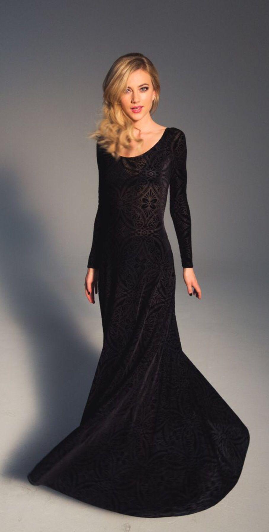 Burned Velvet Long Sleeve Maxi Dress In 2019 Garment