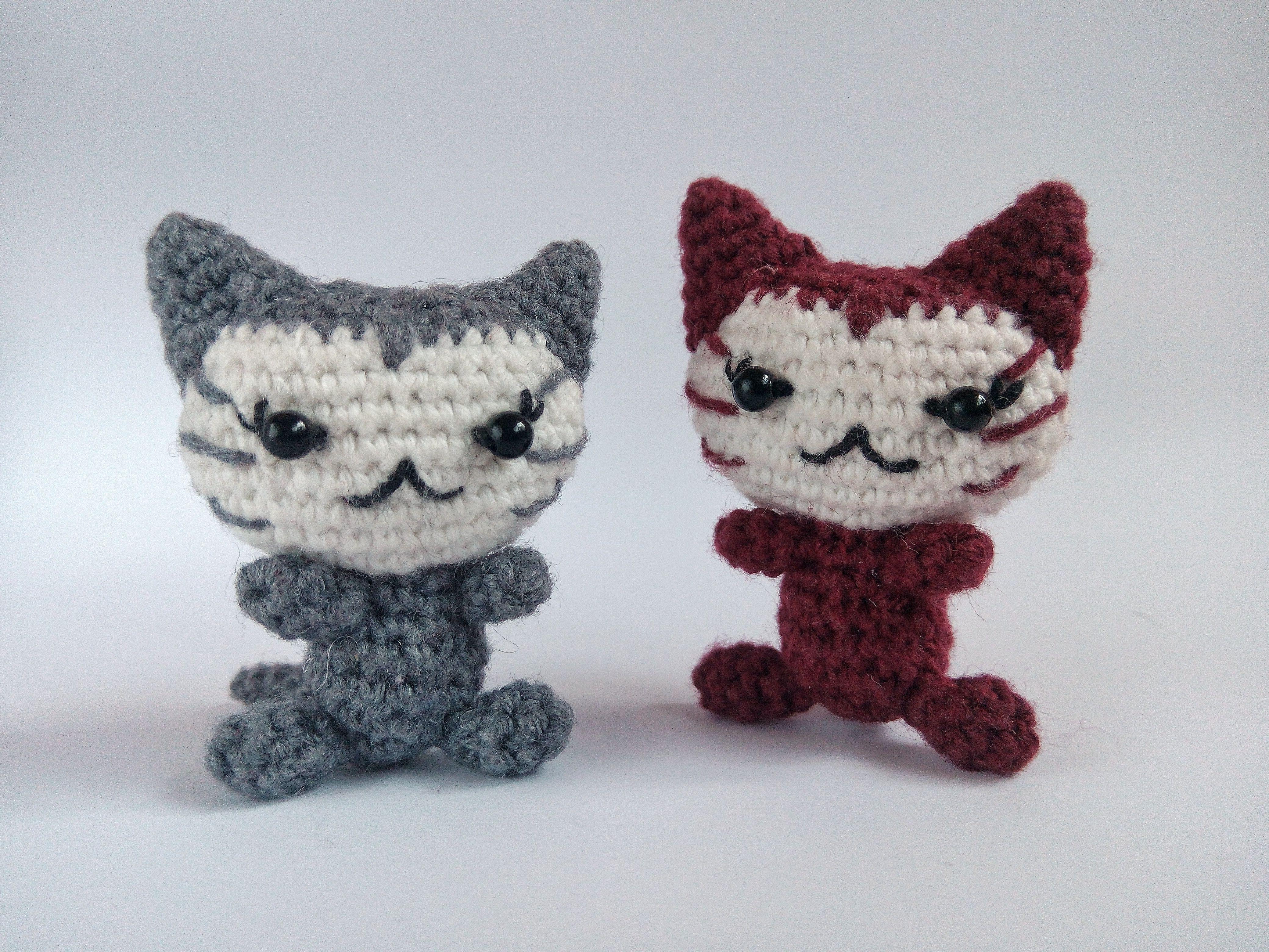 Tiny cat amigurumi pattern | Amiguroom Toys | 3120x4160