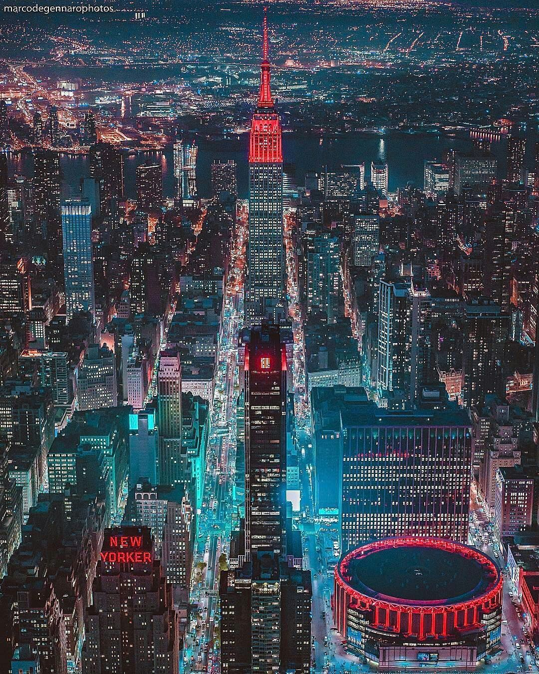 Empire State Building By Marco Degennaro New York City Travel New York Wallpaper New York City Best of new york night wallpaper for