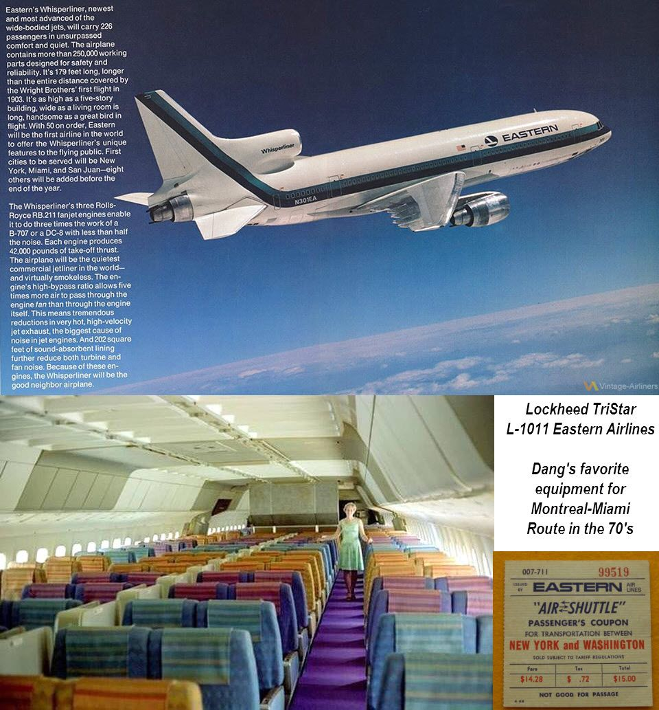 Eastern Airlines Lockheed Tristar L 1011 With Seat