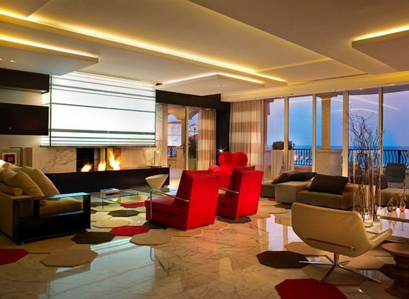 decor Apartment by Pepe Calderin layered ceiling design window