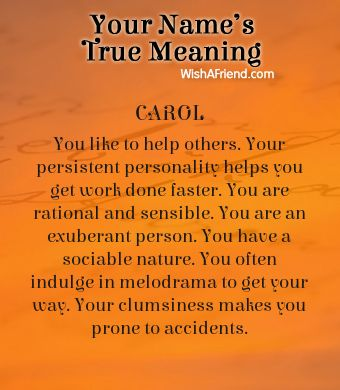 Name true meaning of Carol   Names with meaning, Meant to ...