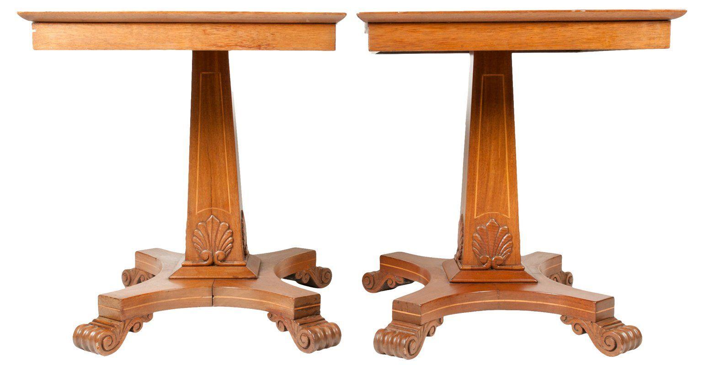 mahogany side tables living room feminine rooms antique light pair standard