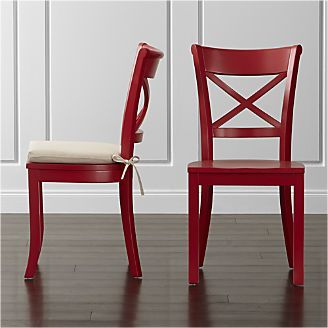 Terrific Vintner Red Wood Dining Chair And Cushion For The Home Evergreenethics Interior Chair Design Evergreenethicsorg