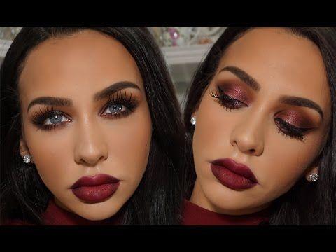 Dark Cherry Valentines Day Makeup Tutorial Carli Bybel Smokey - Carli-bybel- makeup