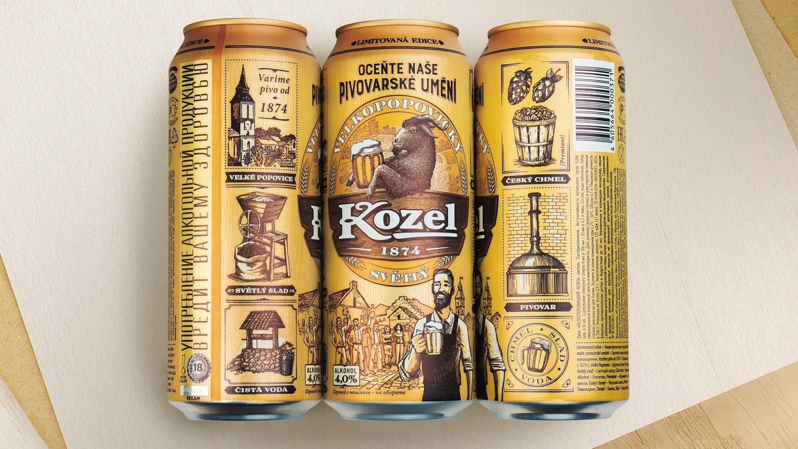 Velkopopovicky Kozel Limited Edition Ocente Nase Pivovarske