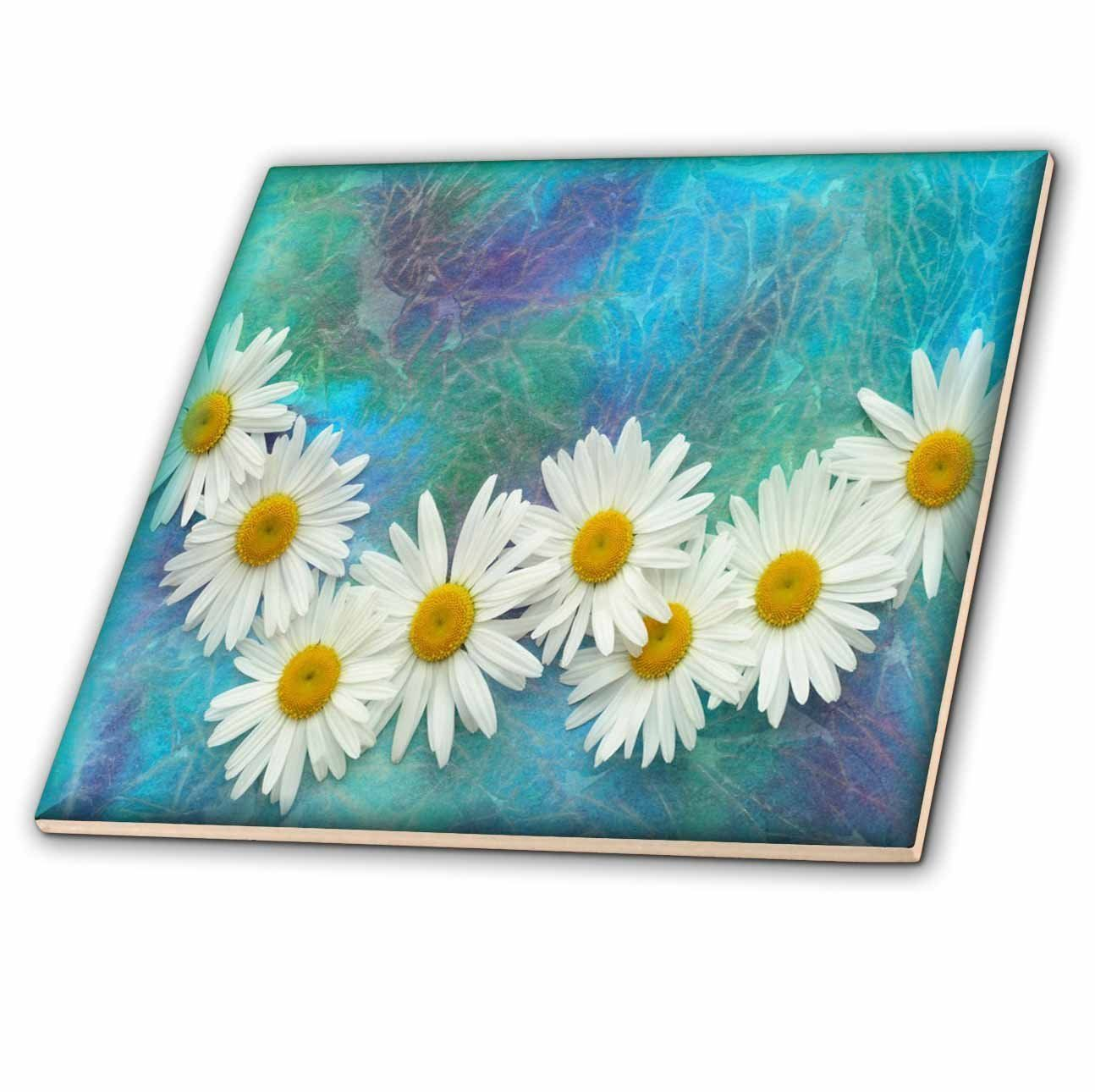 3dRose Daisy Chain - Ceramic Tile, 6-Inch (ct_36550_2) * You can get ...