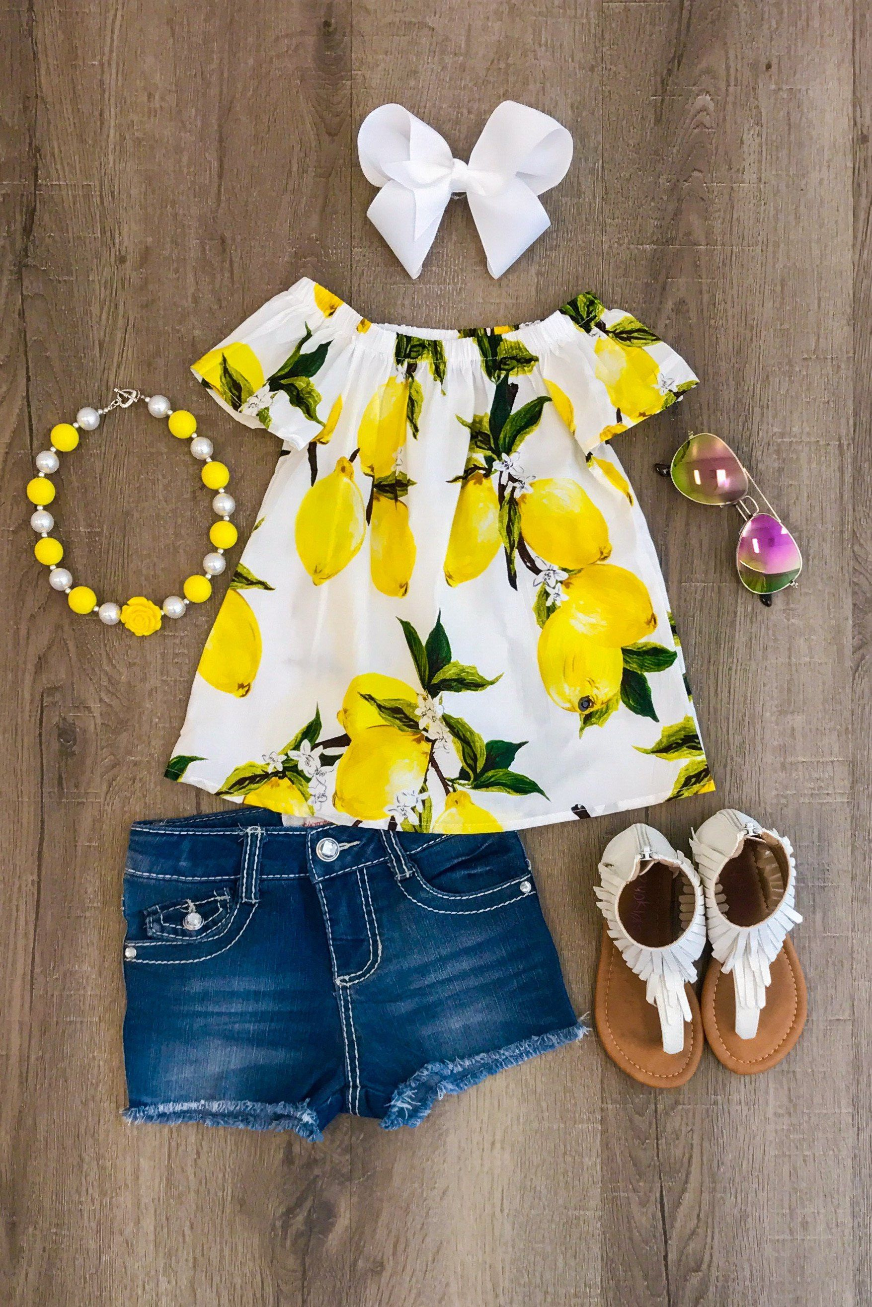 4f6f70a86a8d Yellow Lemonade Shirt Adorable Baby Clothes, Cute Baby Outfits, Cute Little  Girls Outfits,