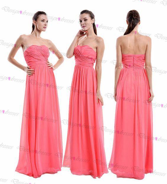 Prom Dress,simple Prom Dress,Chiffon Prom Dress,sleeveless Prom Dress,rosyprom Dress,long Prom Dre on Luulla