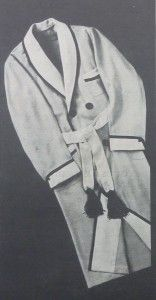 Dressing Gown-Robe Cashmere Buttons