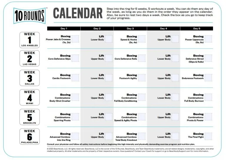 10 Rounds Workout Review And Results Free Trial Bod Healthy For Better Workout Review Workout Workout Calendar