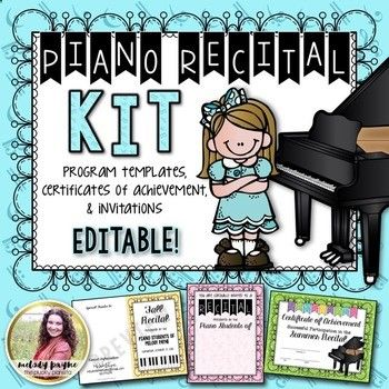 This vibrant, colorful, and adorable Piano Recital Kit is the ...