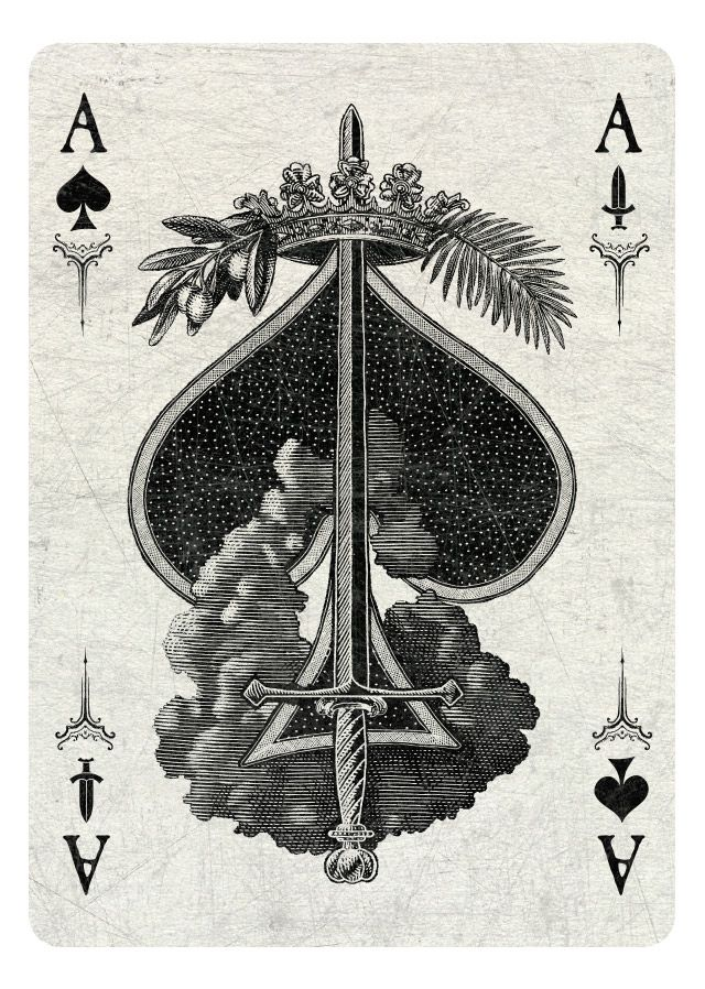 Ace Of Spades Swords Light Playing Cards Art Playing Cards Ace Of Spades Tattoo