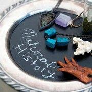 How to make a Silver chalk board tray courtesy of Leila Marvel #deletsy #delaware