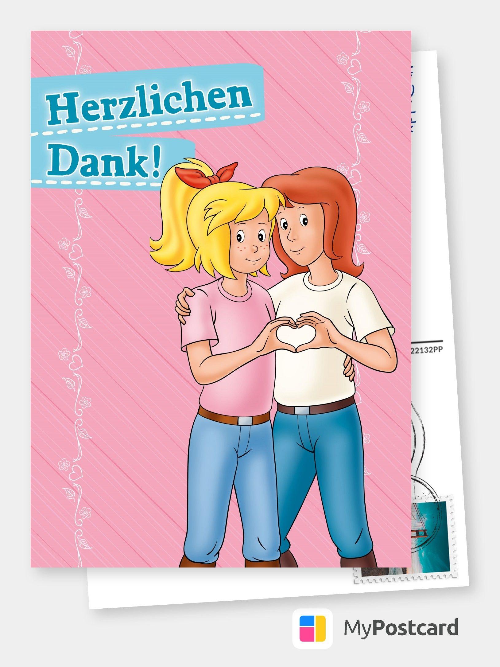 Bibi Tina Dankeskarte Film Musik Karten Echte Postkarten Online Versenden Dankeskarten Bibi Und Tina Danke Karte