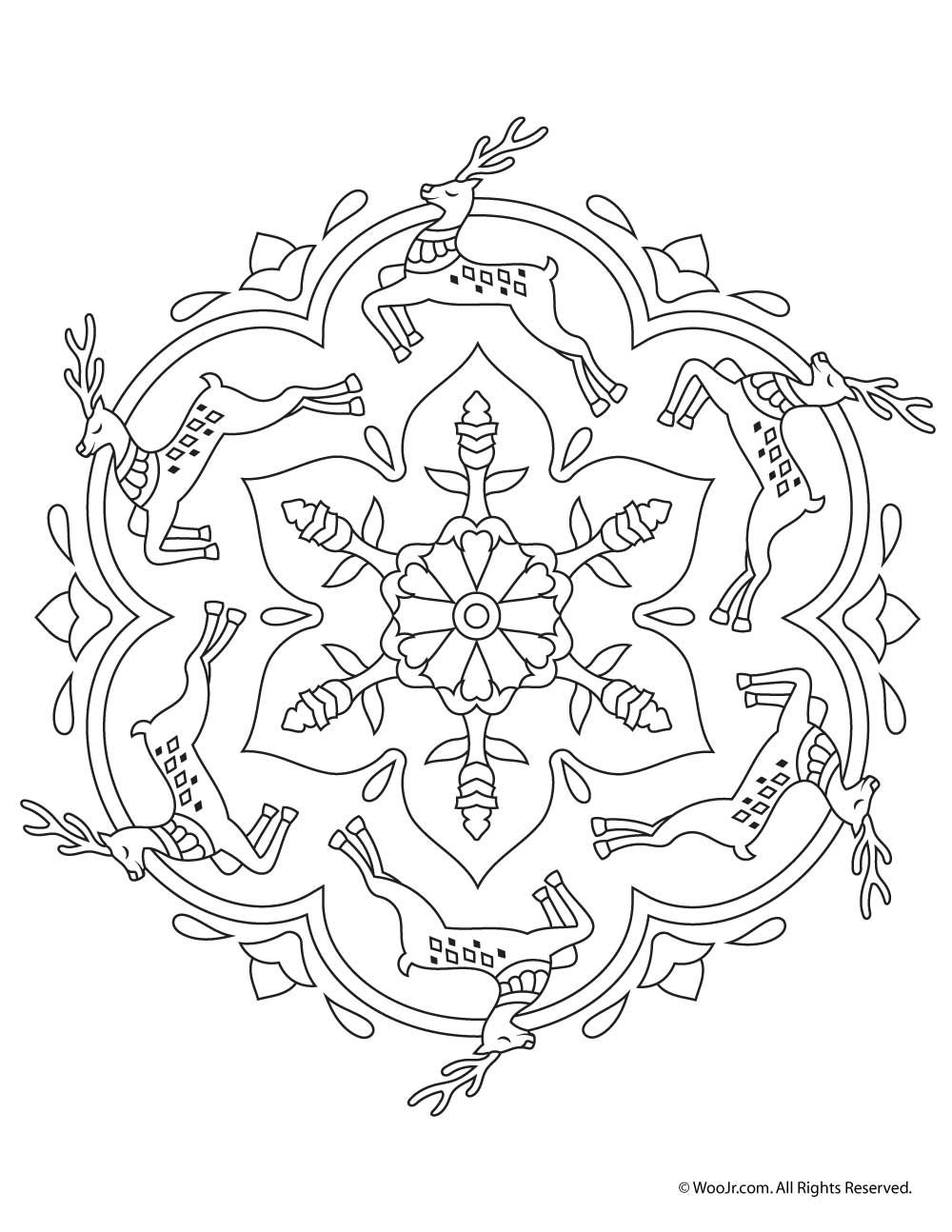 Beautiful Printable Christmas Adult Coloring Pages | ekka ...