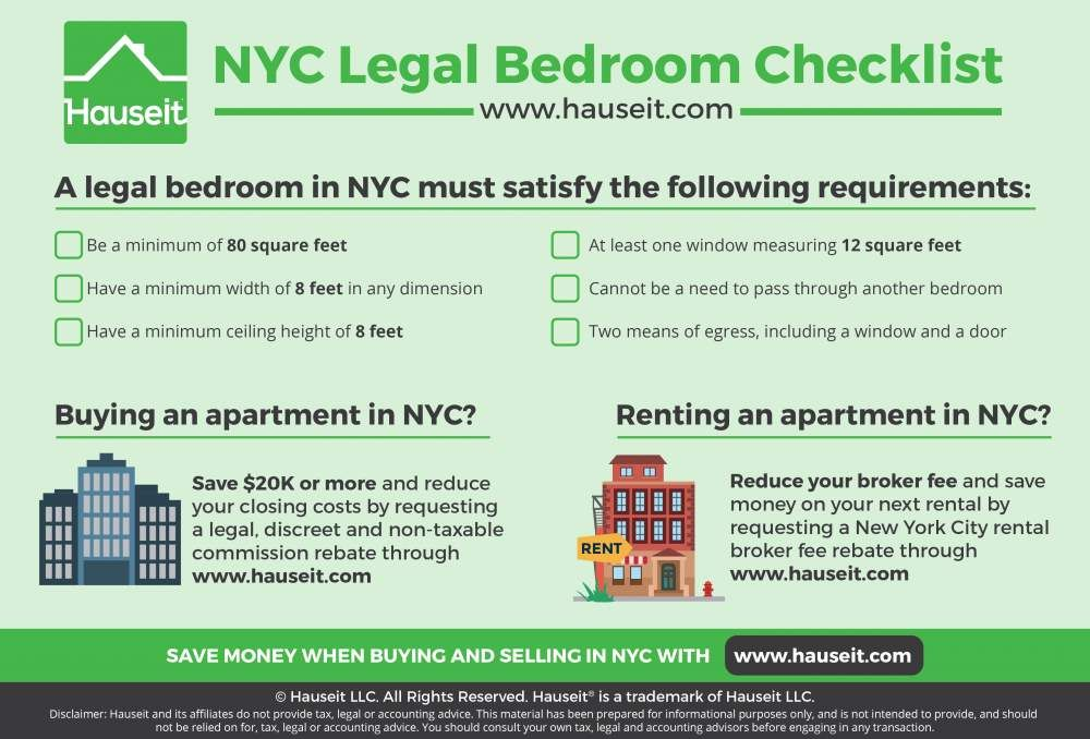 What is a legal bedroom in NYC? Infographic Portal