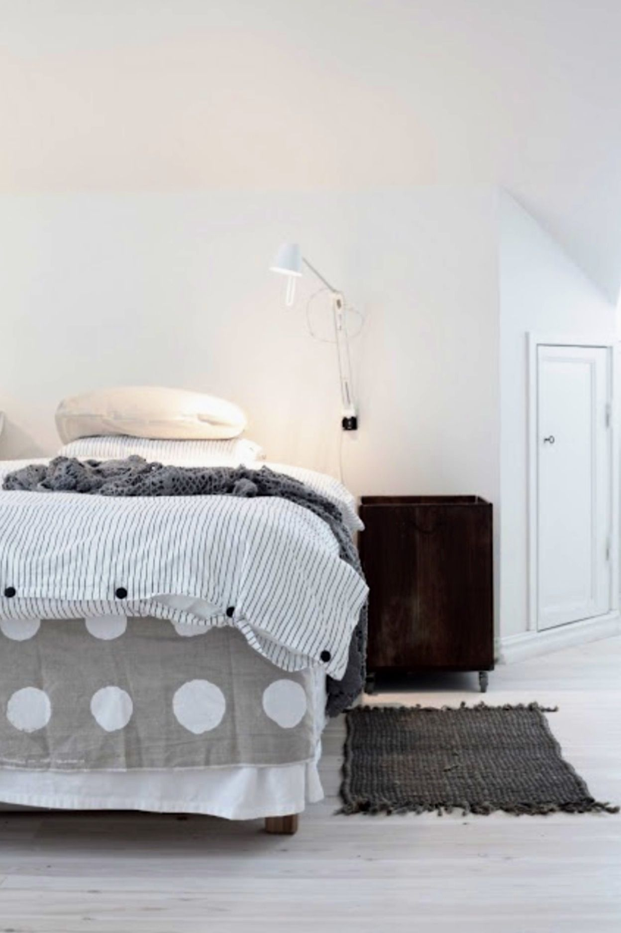 Polka dot bedding for the bedroom pinterest yellow for Polka dot bedroom ideas