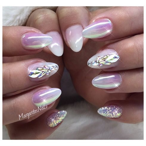 50 must try classy glitter almond acrylic nails in 2017