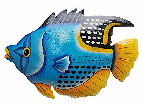 Hand Chiseled And Painted Tropical Metal Art Wall Decor F Https Www Amazon Com Dp B06zzh433r Ref Cm Sw R Wall Art Decor Metal Fish Wall Art Fish Wall Art