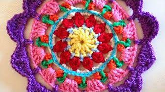 Crochet Mandala Youtube Carreaux Pinterest