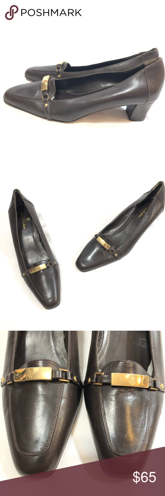 e0f318d17ff Brooks Brothers Brown Kitten Heeled Loafers The Brooks Brothers Women s  Collection by Creative Director Zac Posen