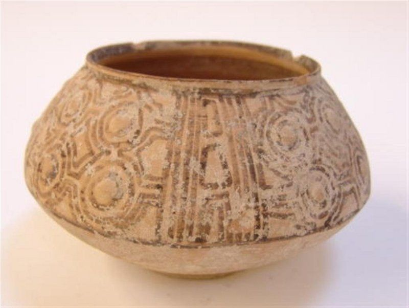 Bi-chrome pottery bowl from Indus Valley