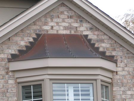 High Quality Copper Roofing Over Bay Windows | Classic Copper Works: Copper Finials,  Awnings, Hoods